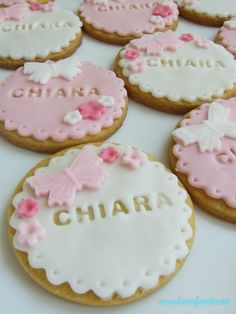 Fondant press names Fondant Cookies, Baby Cookies, Fondant Toppers, Cute Cookies, Cupcake Cookies, Sugar Cookies, Biscuits Fondants, Iced Biscuits, Baby Shower Cupcakes