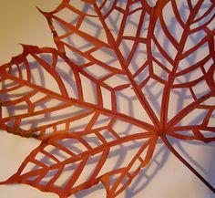 not laser cut, but it could be. << #laser #leaf