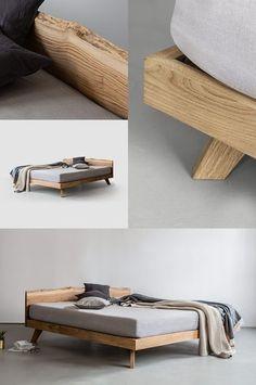 Massivholz Schubladenbett 180x200 Holzbett Bett Eiche Massiv Geölt | Nice |  Pinterest | Bett Eiche, Holzbett Und Eiche