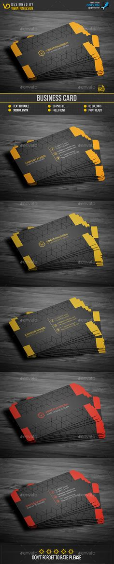 Buy Business Card by kawsarnshimo on GraphicRiver. FEATURES:Business card Easy Customizable and Editable Business card in with bleed CMYK Color Design in Buy Business Cards, Business Card Design, Brand Identity, Branding, Black Card, I Work Hard, Name Cards, Graphics, Graphic Design