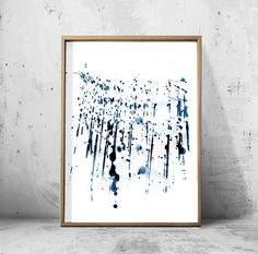 Items similar to Abstract Watercolor Set Minimalist Art Navy Blue Wall Art Indigo Paint Splatter Brushstrokes Minimal Contemporary art Modern Printable Art on Etsy Navy Blue Wall Art, Black And White Wall Art, Blue Art, Black White, Blue Abstract, Abstract Wall Art, Abstract Watercolor, Watercolor Paintings, Art Tropical