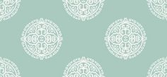 Halie Circle Aqua - Thibaut Wallpapers - A stunning ethnic design featuring patterned circles influenced by Eastern culture shown here in a calming aqua colourway. Other colourways are available. Please request a sample for true colour match. Aqua Wallpaper, Cream Wallpaper, Kitchen Wallpaper, Wallpaper Ideas, Ethnic Design, Designer Wallpaper, True Colors, Woodland, Colour Match