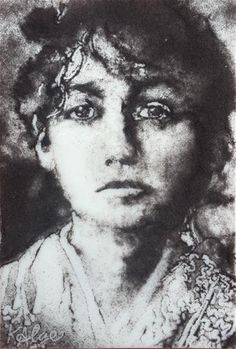 """Daily Paintworks - """"Camille Claudel 2, Tragic Women in the Arts Series"""" - Original Fine Art for Sale - © Kelly Alge"""