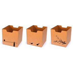 Sprout : Printed Cubby Bin (Three Pack)