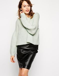 ASOS Jumper With Flared Sleeve with matching skirt