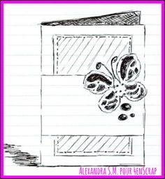 Sketch Alexandra / Défi1 / 4enscrap