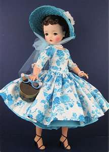 madame alexander vintage cissy doll  --- bought this doll - same dress and hat but it was a blonde doll.