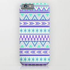 iphone6 and phone cases. Tribal Pattern mint Green Purple by Tjc555 #iphonecases #iphone6