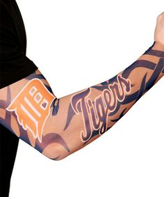 Look what I found on #zulily! Detroit Tigers Adult Tattoo Sleeve - Set of Two #zulilyfinds