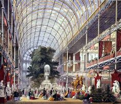 Crystal Palace, World's Fair, Industrial Revolution. Could very well have been among (if not the first) the earliest Mega-Malls.