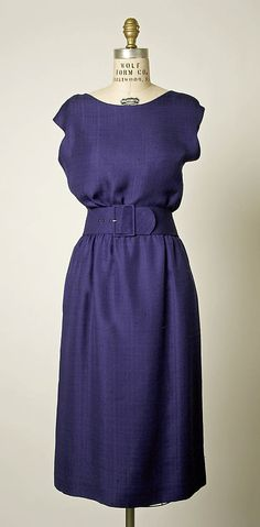 Dress, Afternoon  House of Balenciaga (French, founded 1937)  Designer: Cristobal Balenciaga (Spanish, 1895–1972) Date: 1957 Culture: French Medium: silk