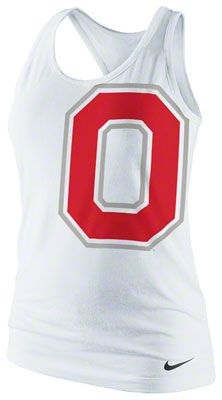 I might need to buy one to support our boy!!!!  ❤️❤️❤️ Ohio State Buckeyes Women's White Nike Tri-Blend Tank Top