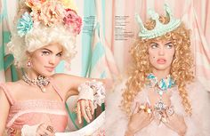 Representing: Nicoline Patricia Malina, Andre Wiredja & Ryan Tandya Pale Face, Extreme Hair, Craft Party, Marie Antoinette, Pastel Colors, Vignettes, Crowns, Eat Cake, Baroque