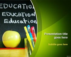 Education School PowerPoint Template