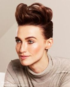 Updo for a fake pixie or mohawk look