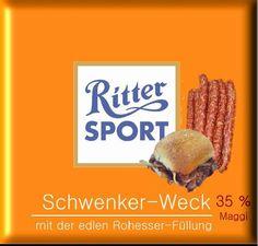 RITTER SPORT Fake Schokolade Schwenker-Weck