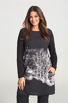 Sara - Large Size Clothing - Sara Print Tunic