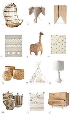 A NATURAL LOOK FOR NURSERIES KIDS ROOMS