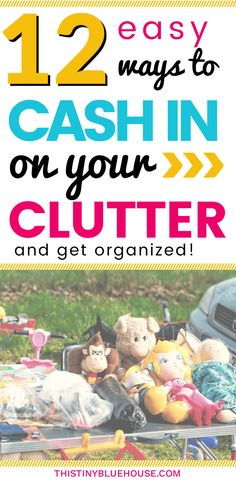 Tips & Tricks to help you cash in on your clutter while de-cluttering and organizing your home. Earn a little extra cash by selling stuff that you're literally no-longer using. ideas to make money | ways to make money | easy ways to make money | money making tips | de-cluttering| #organizingyourhome #organizingclutter #clutterhelp