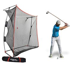 Rukket Haack Golf Net Pro Practice Driving Indoor and Outdoor Professional Golfing at Home Swing Training Aids By SEC Coach Chris Haack Haack Golf Net Pro *** You can obtain even more information by clicking the image. (This is an affiliate link). Golf Hitting Net, Golf Practice Net, Home Swing, Golf Putting Tips, Golf Instruction, Perfect Golf, Golf Training, Play Golf, Ladies Golf