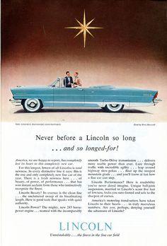 1956 Lincoln Premiere Ad.