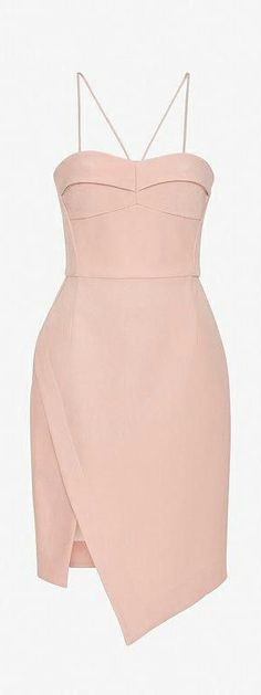 Blush bustier dress