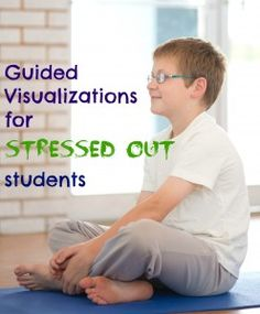 Guided Visualizations for Stressed Out Students :: ADHD, ADD, focus, calming, stress-relief Elementary School Counseling, School Social Work, School Counselor, Elementary Schools, Coping Skills, Social Skills, Therapy Activities, Play Therapy, Therapy Ideas