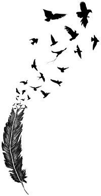 The tattoo design I went with for my wrist minus a few of the birds!