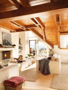 Design :: Culorile calde ale unei case din lemn :: SmartWoman