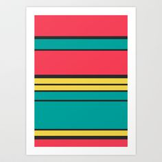 Simple Stripes Art Print by Danny Ivan - $18.00