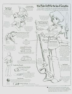 Nausicaä of the Valley of the Wind (1984) - Character Design