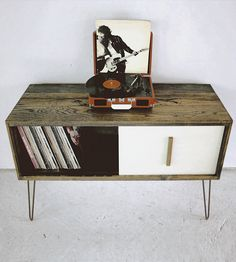Large Reclaimed Wood Record Cabinet by Modern Arks on Scoutmob Shoppe