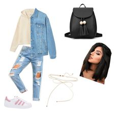 """""""Basic🔥😊"""" by anniixx on Polyvore featuring MANGO and adidas Originals"""