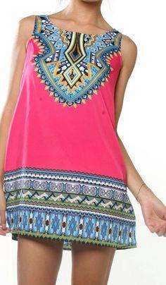 Ooh La La Private Label. Loose fit mini dress in Pink.