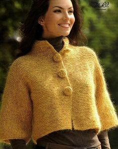 great cropped cardigan - Russian site, but there's a diagram. . . .