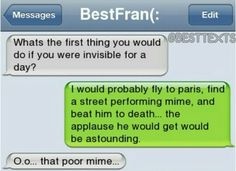 That poor mime