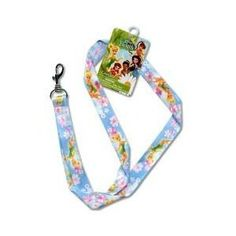 New Disney Tinkerbell Lanyard Key Chain & Key Holder