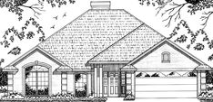 European House Plan with 1675 Square Feet and 3 Bedrooms from Dream Home Source | House Plan Code DHSW70802