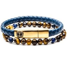 Shop the best selection of men's bracelets and jewelry at Tribal Hollywood. Choose from bead bracelets, black metal, and leather cuff bracelets for men. Bohemian Bracelets, Bracelets For Men, Beaded Bracelets, Blue Bracelets, Cool Rings For Men, Leather Necklace, Leather Bracelets, Adjustable Bracelet, Tigers
