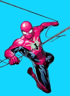 Marvel Comics, Marvel Art, Marvel Heroes, Spiderman Spider, Amazing Spiderman, Comic Books Art, Comic Art, Avengers 1, Marvel Drawings