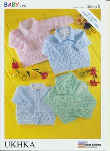 Baby & Premature Baby Knitting Pattern - Long Sleeved Cardigans & Jumper UKHKA6
