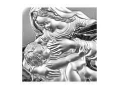 Srebrny Obrazek Matka Karmiąca