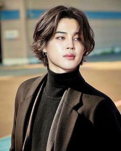 Jimin with long hair edit yes/no? Jimin with long hair edit yes/no? Bts Jimin, Bts Taehyung, Bts Bangtan Boy, Park Ji Min, Bts Hairstyle, Cool Hairstyles, Kpop Hair, Bts Fans, Foto Bts