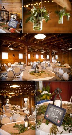 Very pretty and inspirational for me in particular since my wedding reception will be indoors but I'd like to do something kind of similar to this. I would probably use smaller burlap squares on the table but other than that, this is nice!