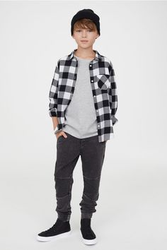 c1e0d3bb81a1 Joggers - Svart washed out - BARN | H&M ...