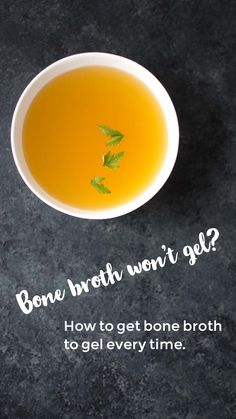 FYI: This is why your bone broth won't gel.    If you've tried to make bone broth, looking for that wonderful bouncy gel only to have it turn out thin and watery, this post might help you to pinpoint the problem.