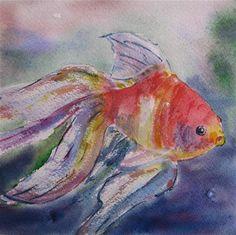 "Daily Paintworks - ""Tropical fish"" - Original Fine Art for Sale - © Sonia Aguiar"