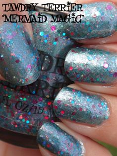 """@TawdryTerrier """"Mermaid Magic"""" #prototype  in the shade - check out our polishes at https://www.etsy.com/shop/TawdryTerrier #nailpolish #tawdryterrier #indienailpolish"""