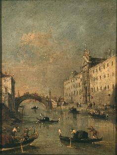 Francesco Guardi - Il rio dei Mendicanti - 1785-1790 - Paesaggi e vedute - Accademia Carrara di Bergamo Pinacoteca