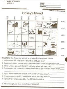 using a map grid worksheet lesson planet teaching ideas pinterest lesson planet. Black Bedroom Furniture Sets. Home Design Ideas